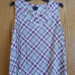 Lane Bryant pink white grey sleeveless tank 20